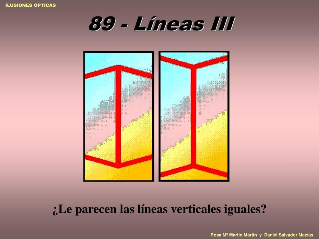 89 - Líneas III