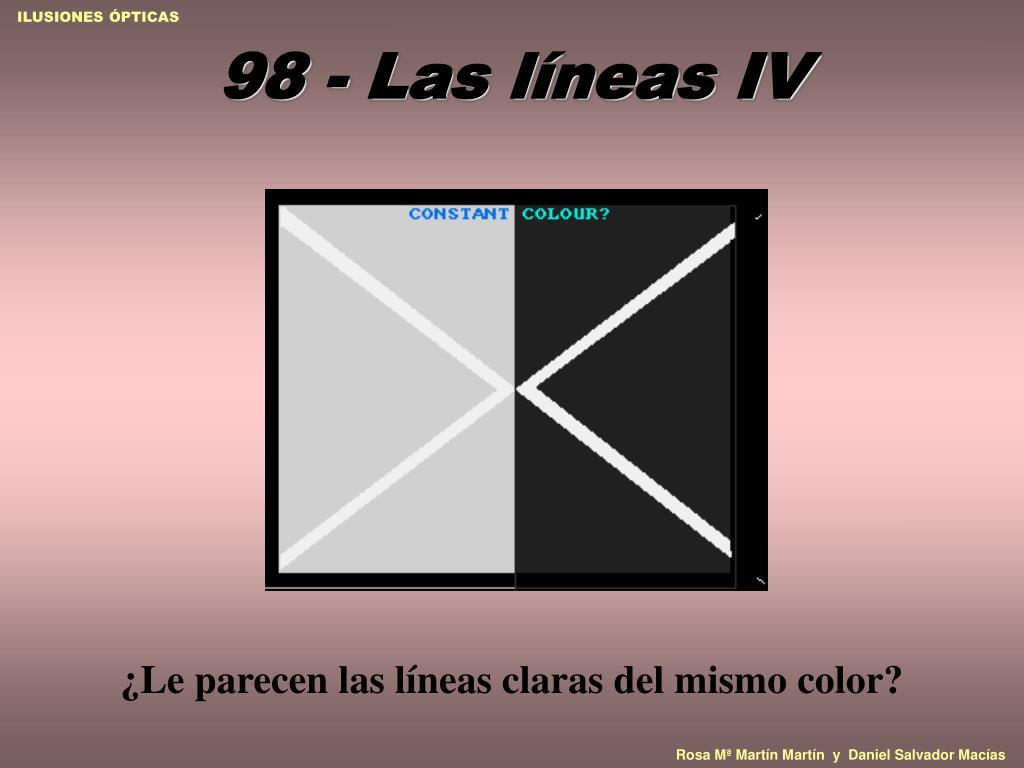 98 - Las líneas IV