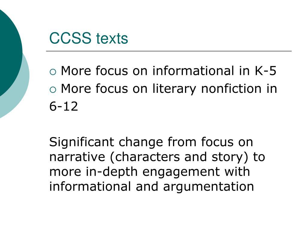 CCSS texts