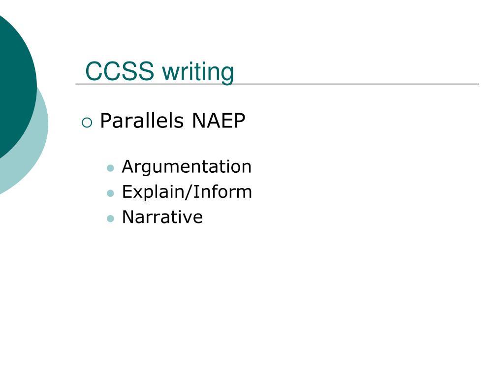 CCSS writing