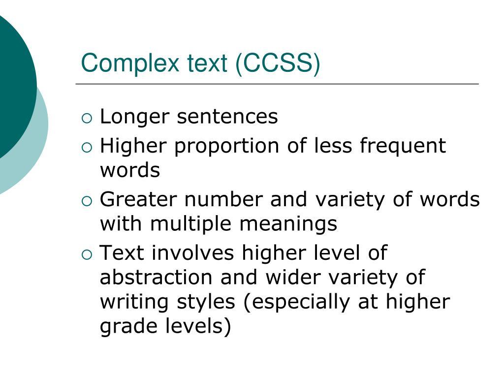 Complex text (CCSS)