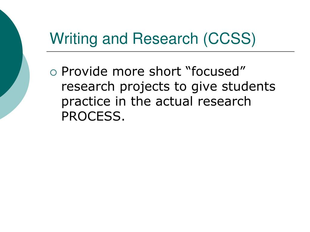 Writing and Research (CCSS)