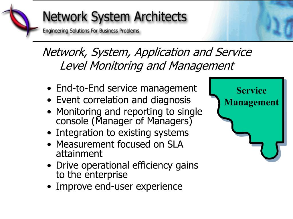 Network, System, Application and Service Level Monitoring and Management