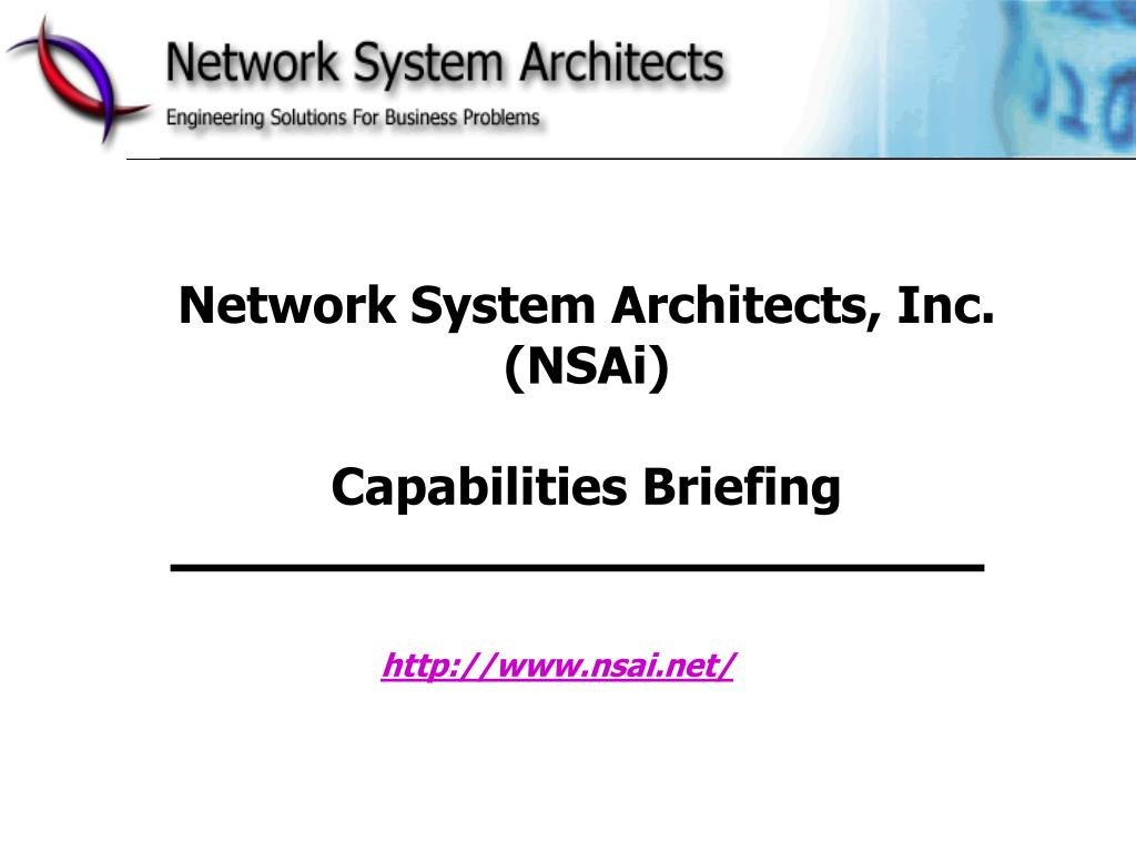 Network System Architects, Inc. (NSAi)