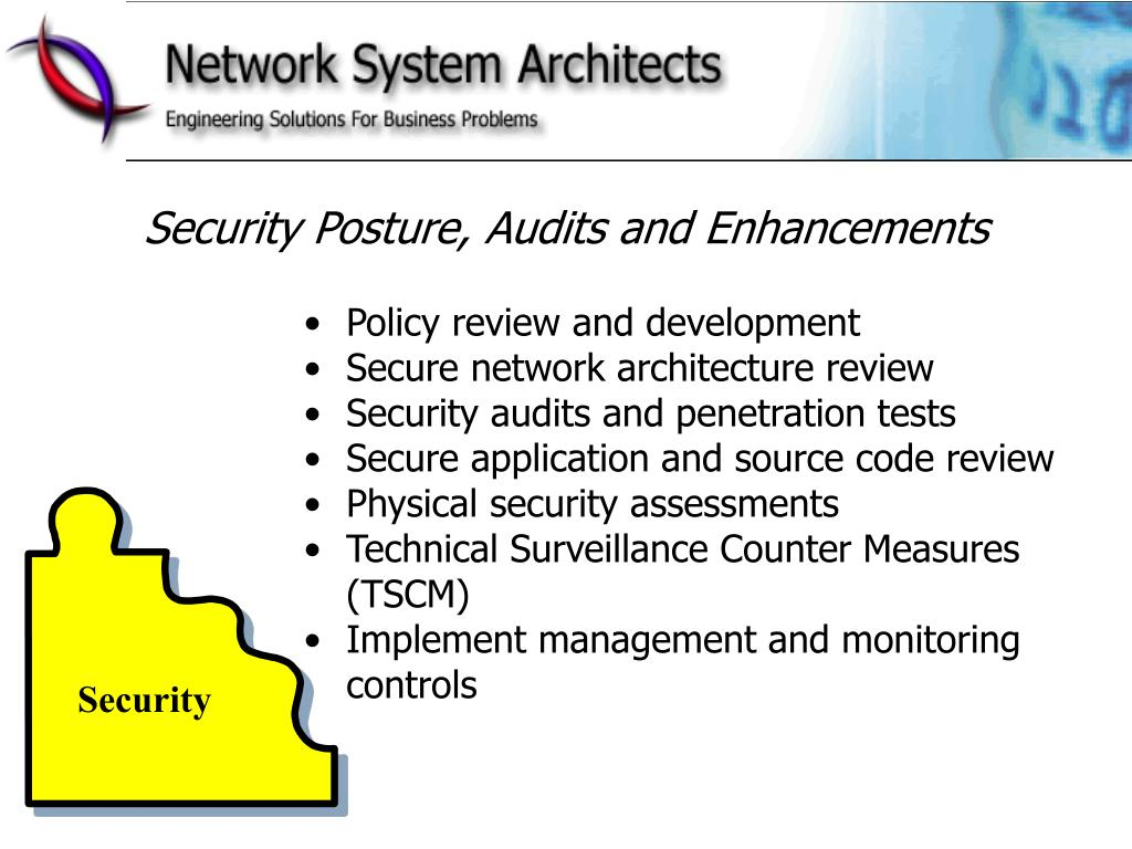 Security Posture, Audits and Enhancements