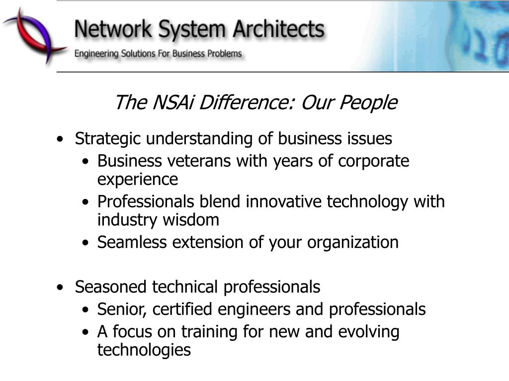 The NSAi Difference: Our People