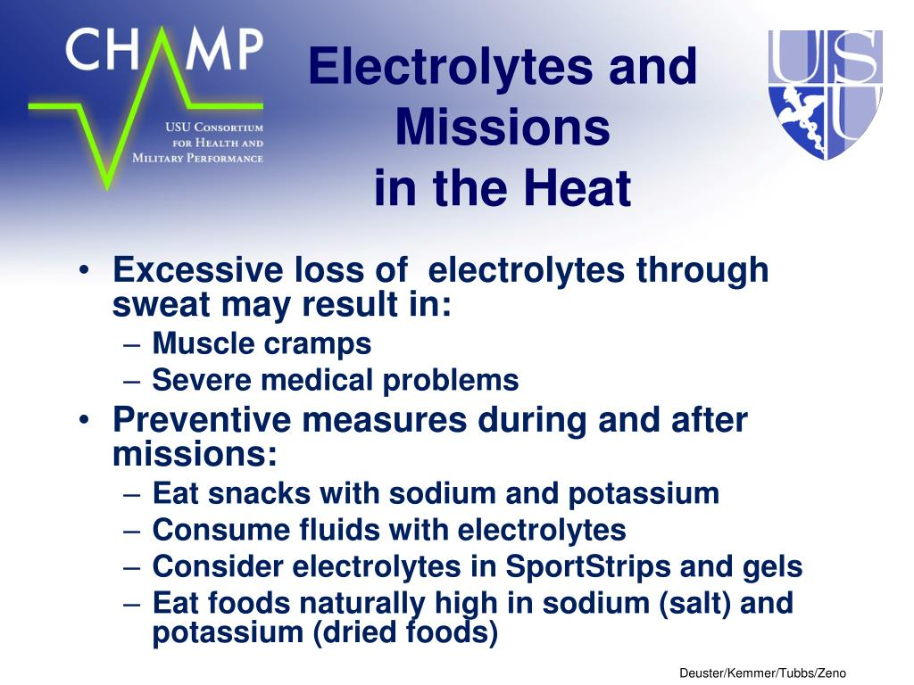 Electrolytes and Missions