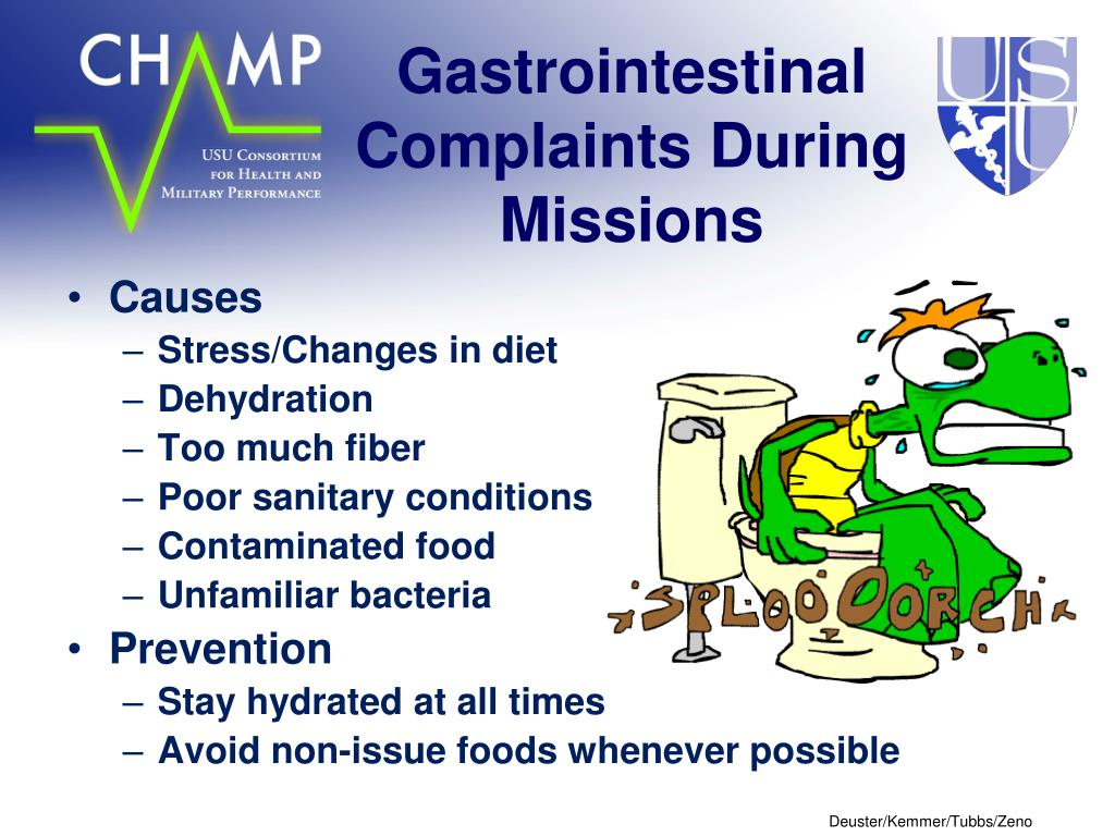 Gastrointestinal Complaints During Missions