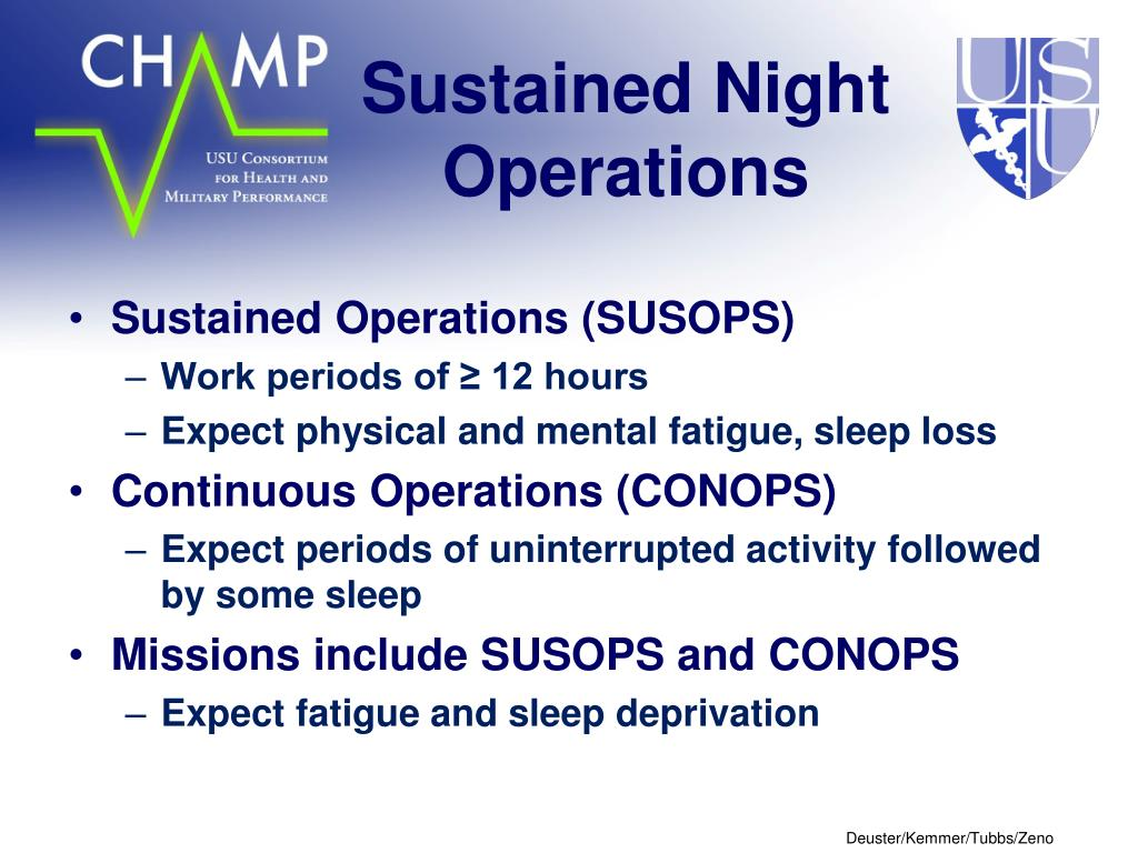 Sustained Night Operations