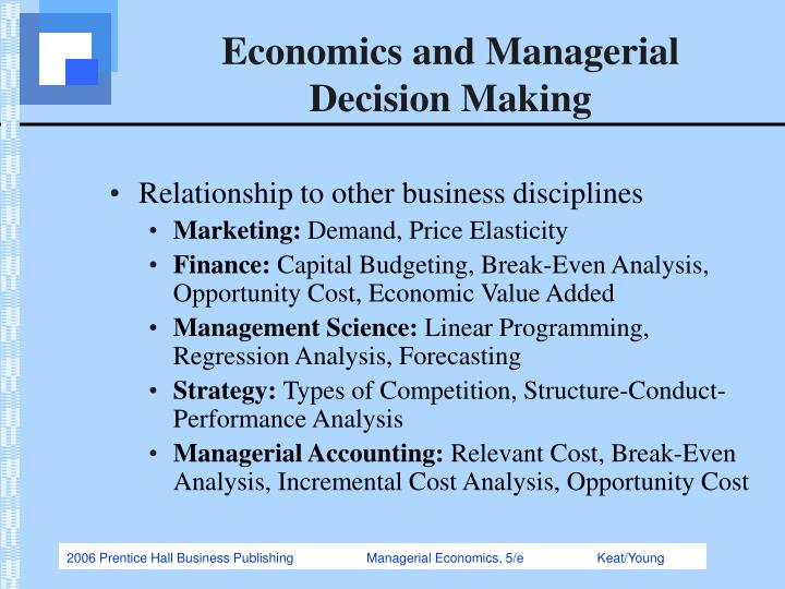 application of demand analysis in managerial decision making