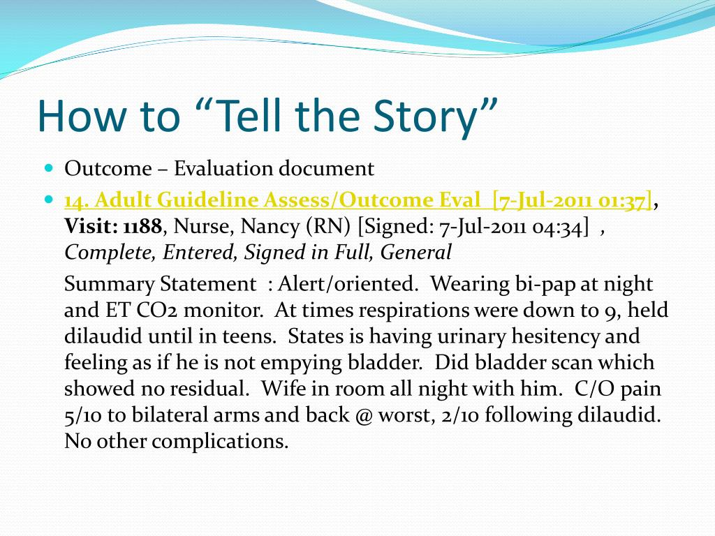 "How to ""Tell the Story"""