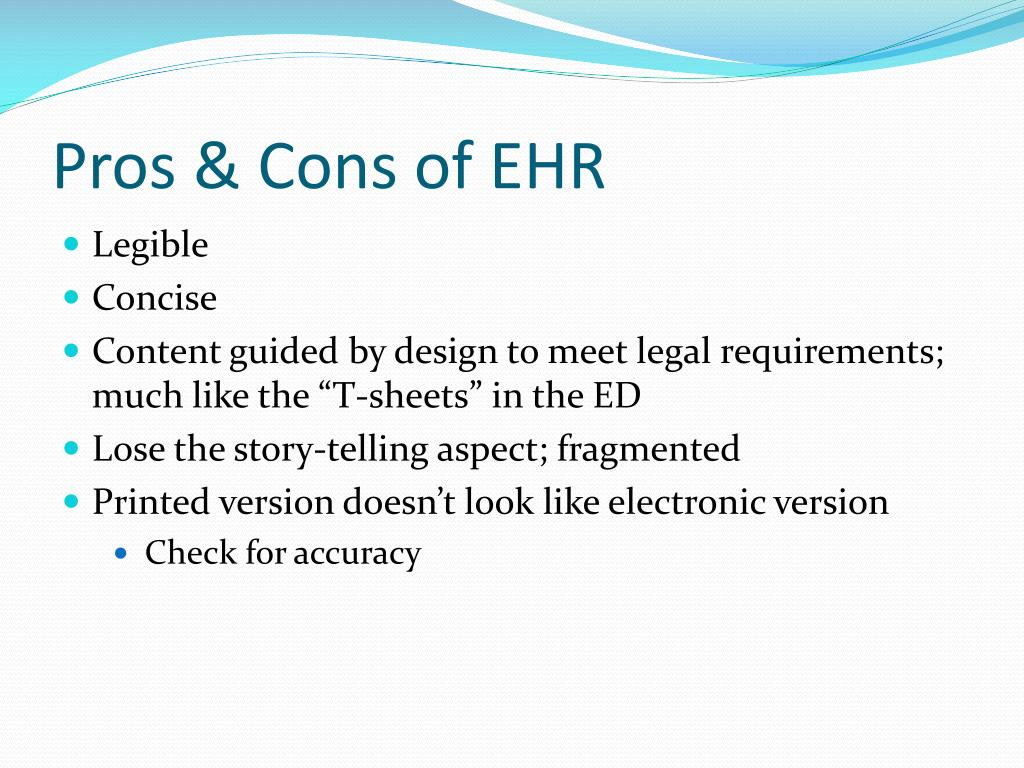 Pros & Cons of EHR