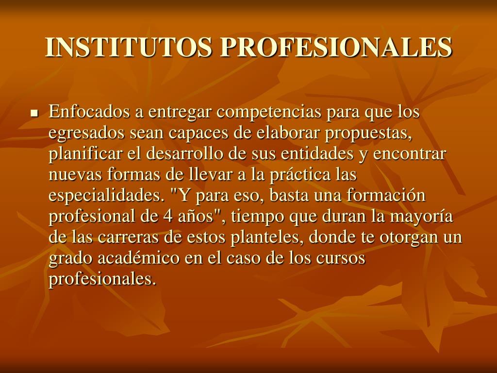 INSTITUTOS PROFESIONALES