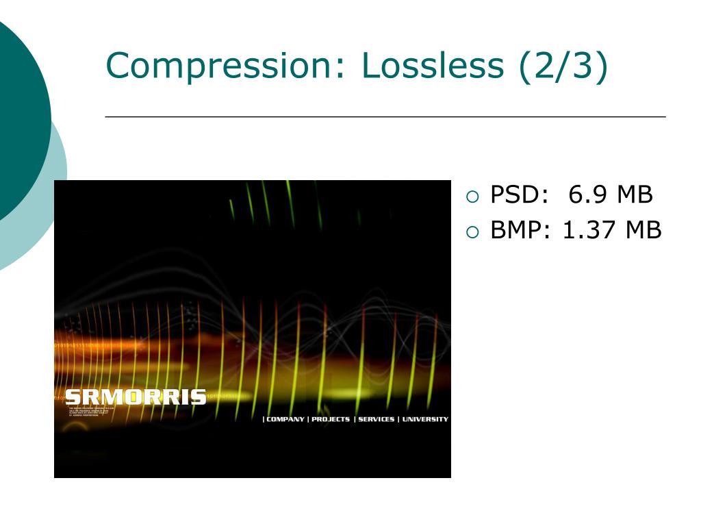 Compression: Lossless (2/3)