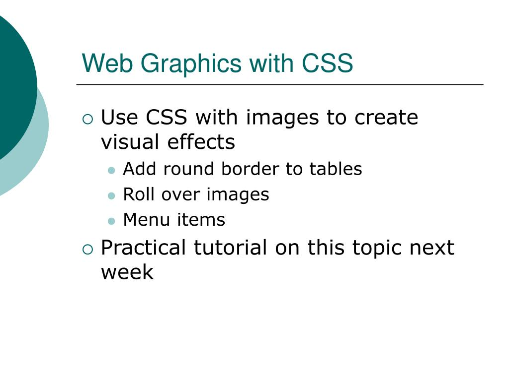 Web Graphics with CSS