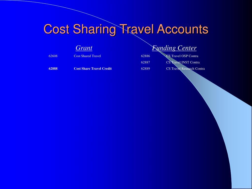 Cost Sharing Travel Accounts