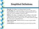 simplified definitions