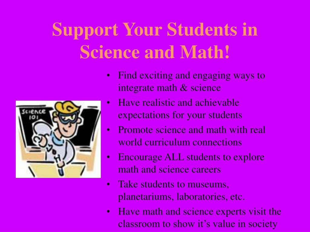 Support Your Students in Science and Math!