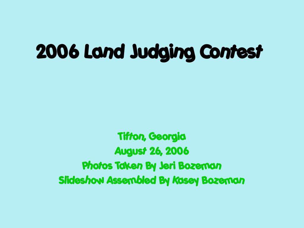 2006 land judging contest