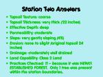 station two answers
