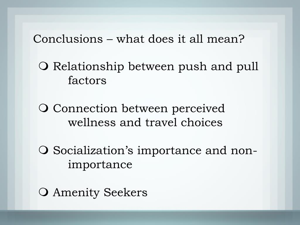 Conclusions – what does it all mean?