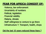 fear for africa consist of