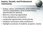 inquiry growth and professional community