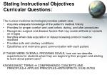 stating instructional objectives curricular questions57