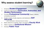 why assess student learning
