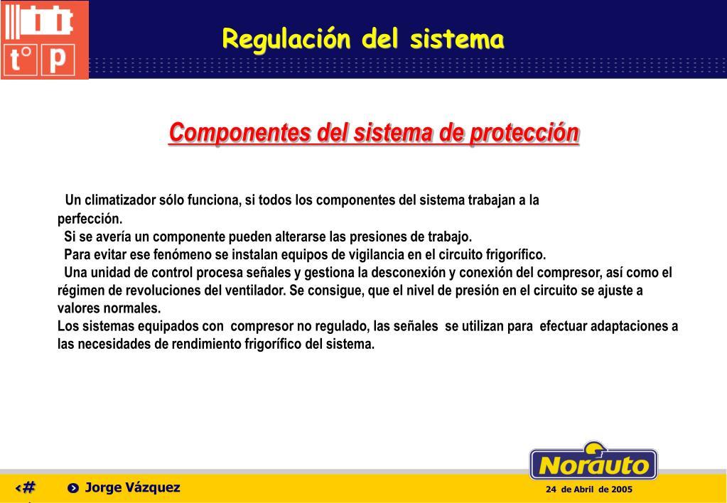 Regulación del sistema