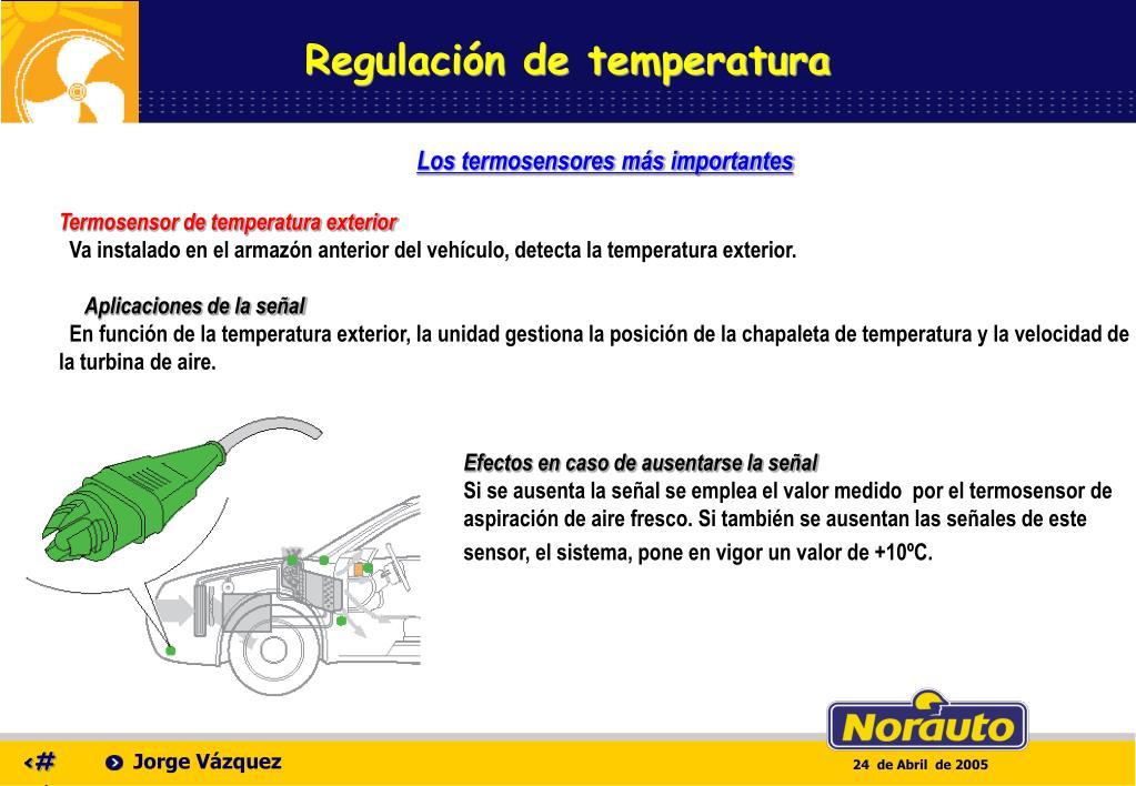 Regulación de temperatura
