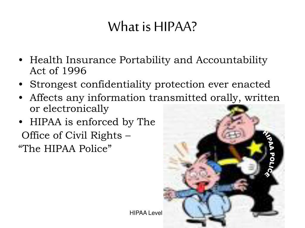 HIPAA POLICE