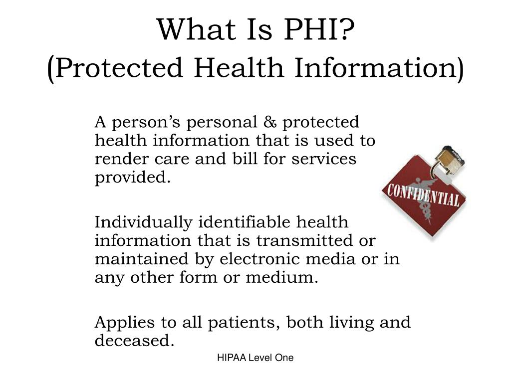 What Is PHI?
