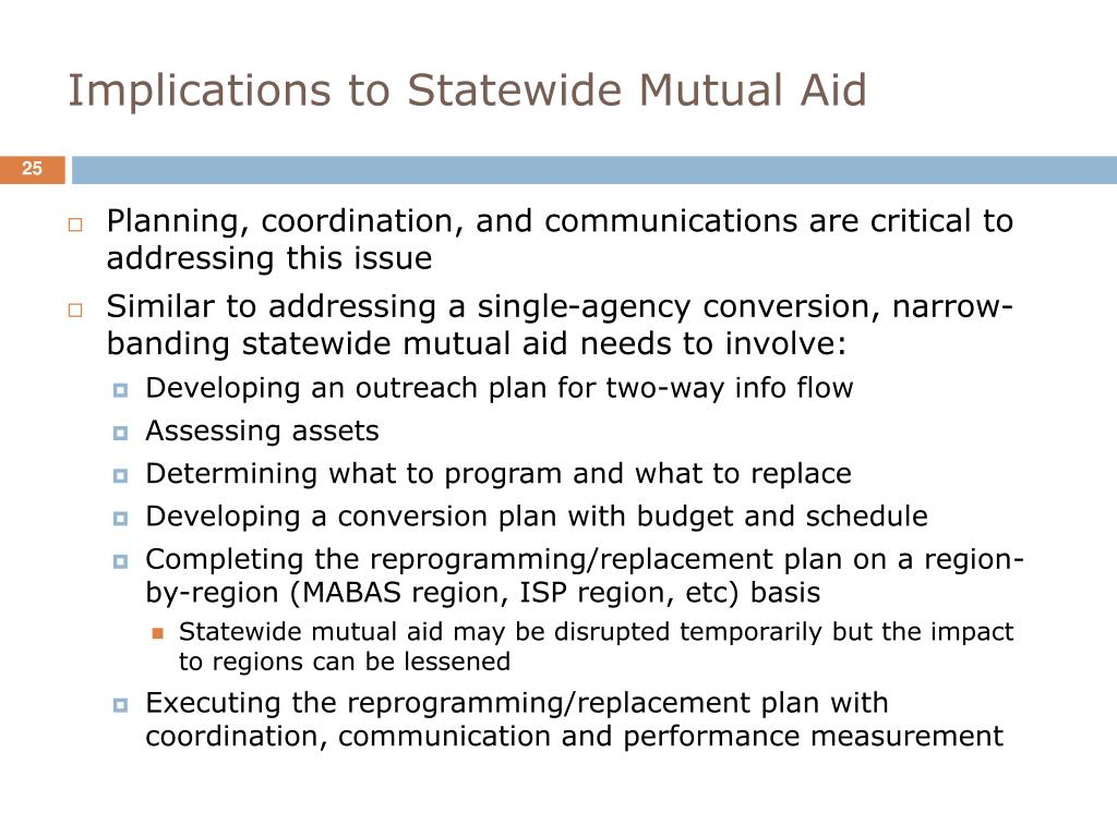 Implications to Statewide Mutual Aid