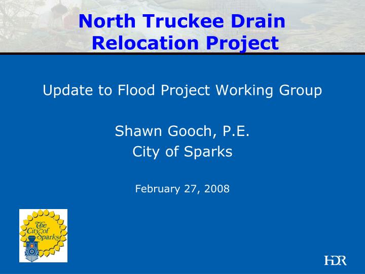 north truckee drain relocation project n.