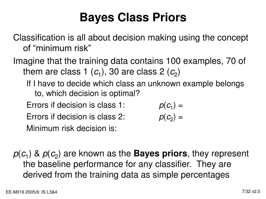 Bayes Class Priors