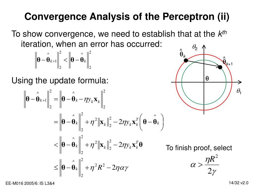 Convergence Analysis of the Perceptron (ii)