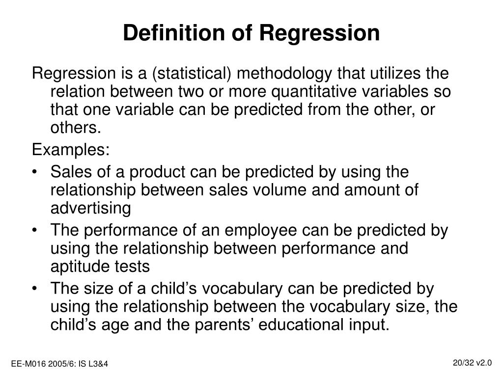 Definition of Regression