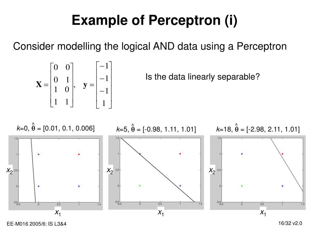 Example of Perceptron (i)