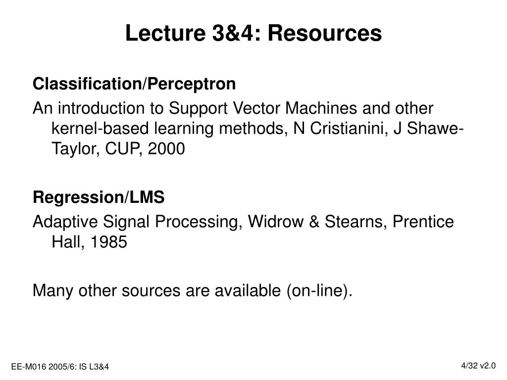 Lecture 3&4: Resources