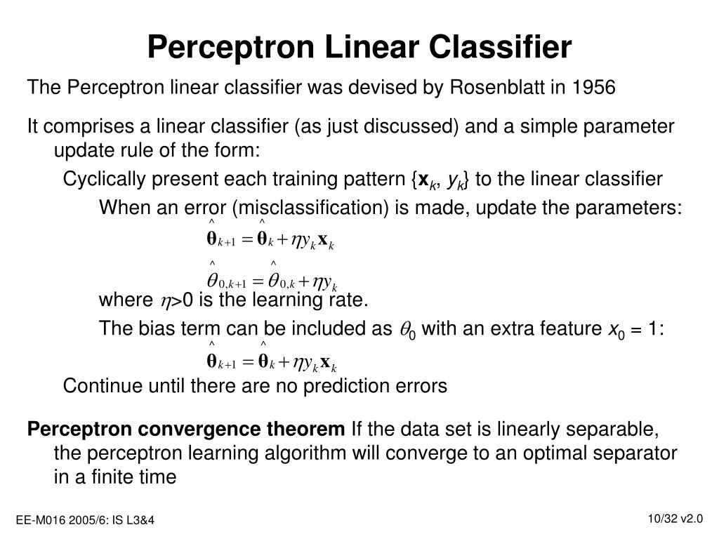 Perceptron Linear Classifier