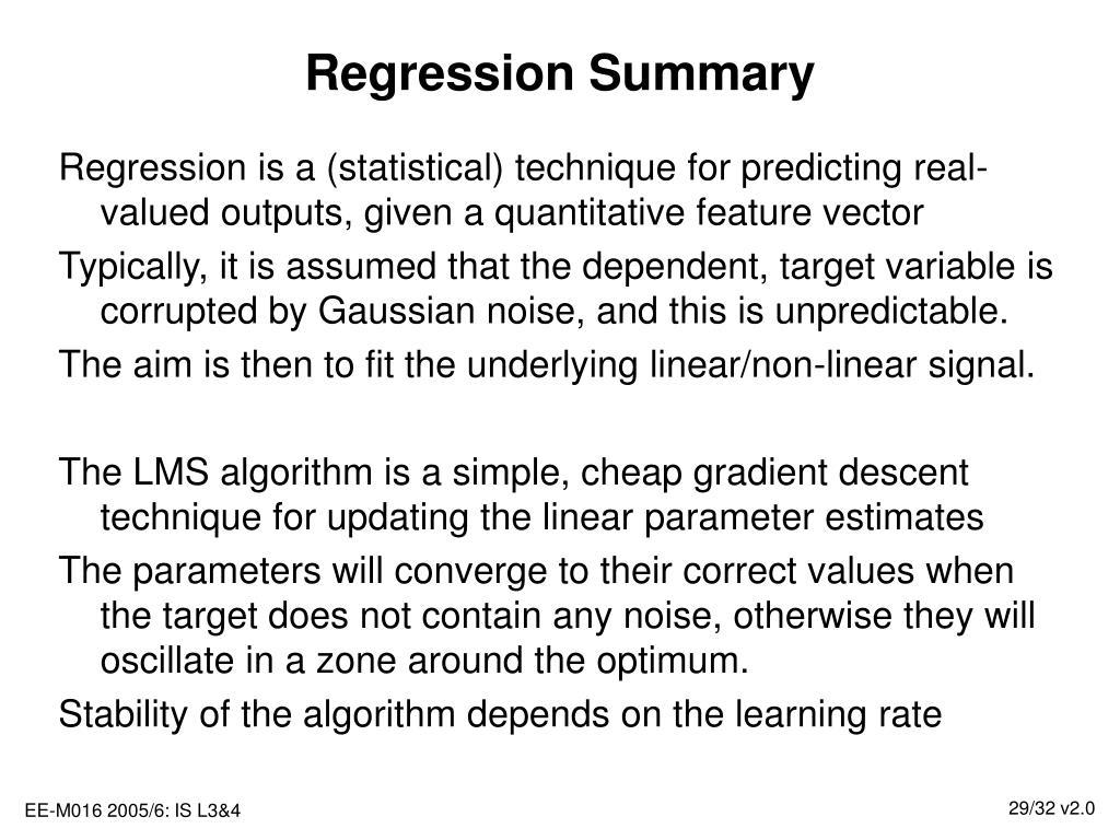 Regression Summary