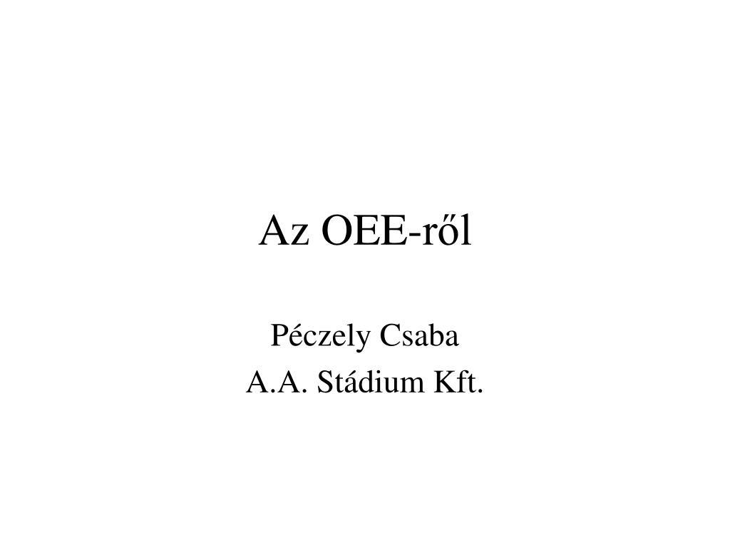 Az OEE-ről