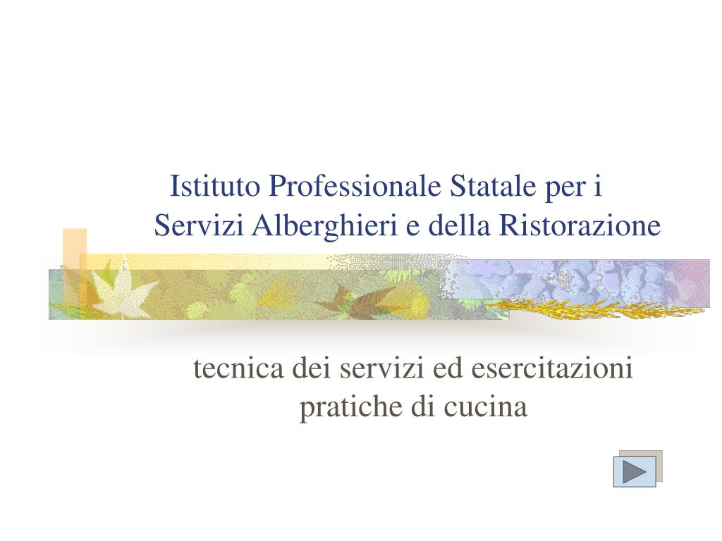 istituto professionale statale per i servizi alberghieri e della ristorazione