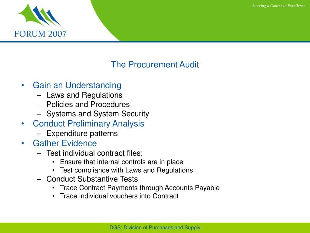 The Procurement Audit
