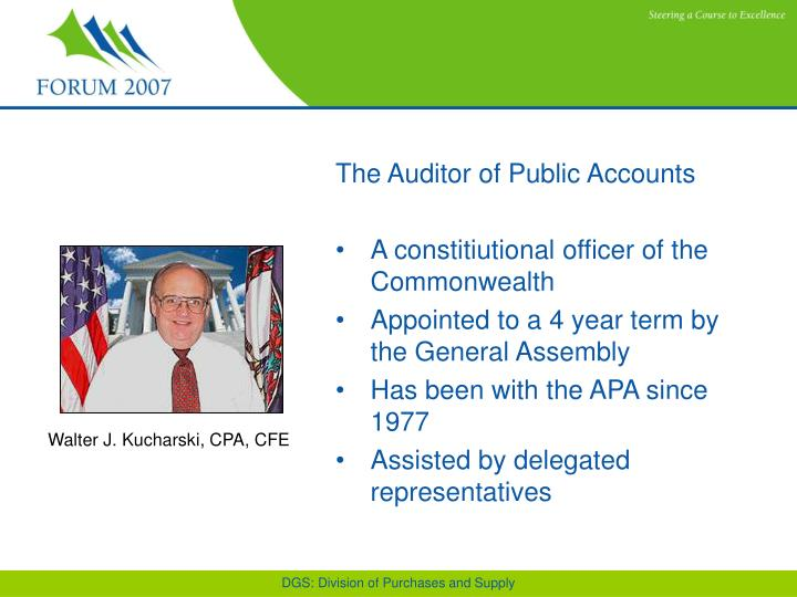 The Auditor of Public Accounts