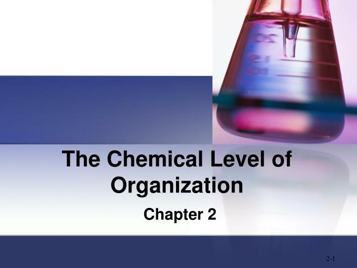 the chemical level of organization n.