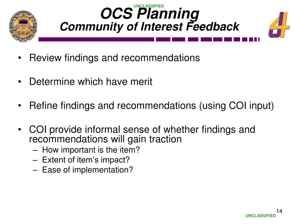 OCS Planning