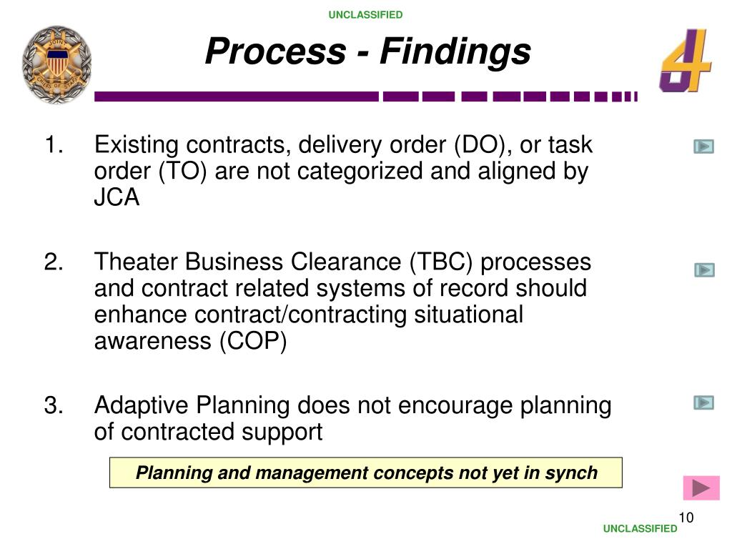Process - Findings