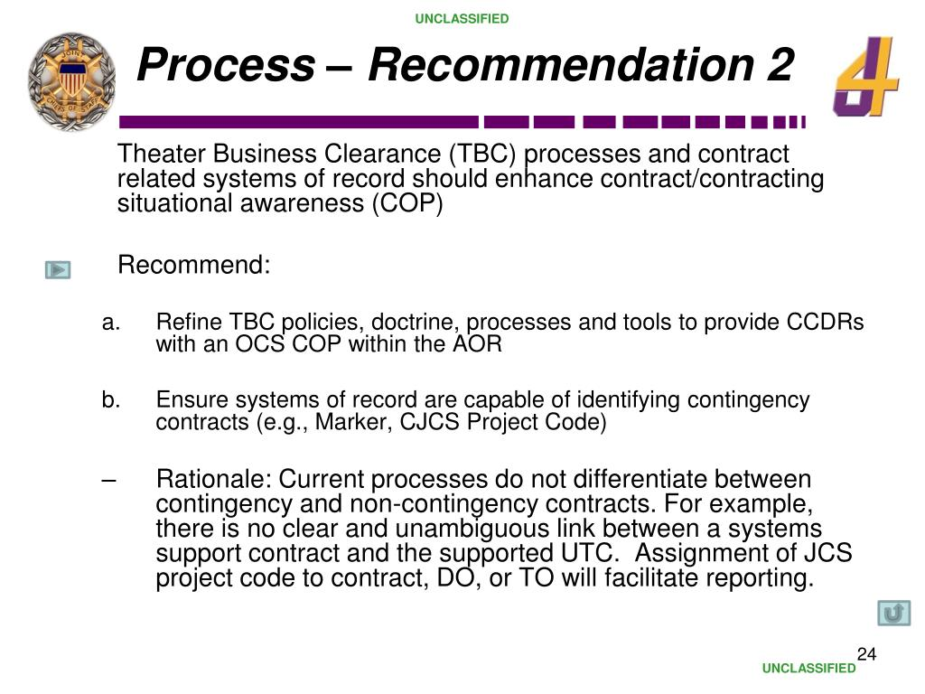 Process – Recommendation 2